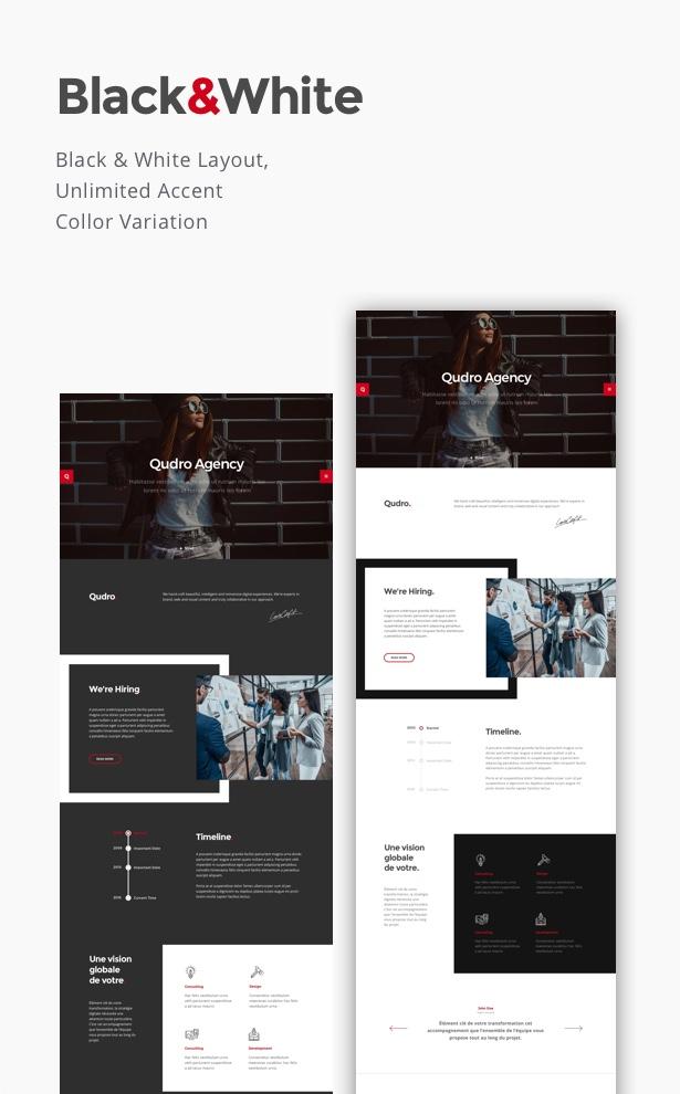 Qudro – One Page Agency & Portfolio - 3