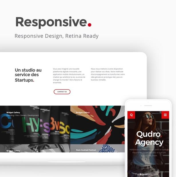 Qudro – One Page Agency & Portfolio - 2